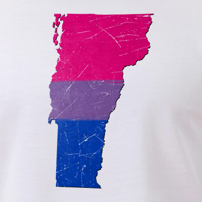 Vermont Silhouette Bisexual Pride Flag
