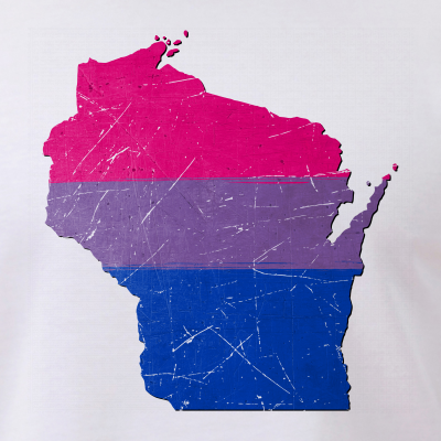 Wisconsin Silhouette Bisexual Pride Flag