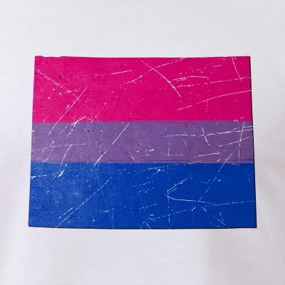 Wyoming Silhouette Bisexual Pride Flag