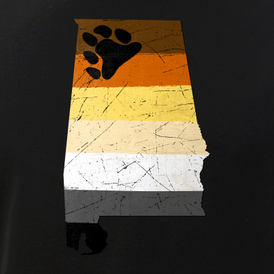 Alabama Silhouette Bear Pride Flag