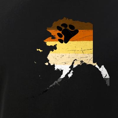 Alaska Silhouette Bear Pride Flag
