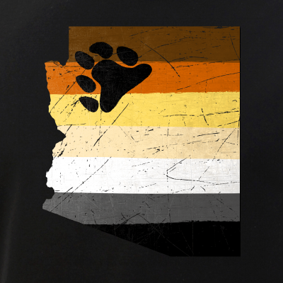 Arizona Silhouette Bear Pride Flag