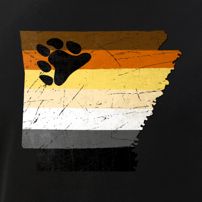 Arkansas Silhouette Bear Pride Flag