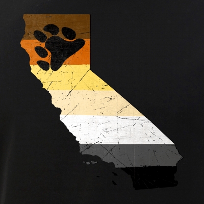 California Silhouette Bear Pride Flag