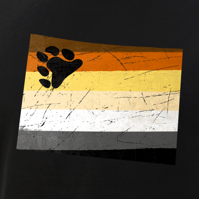 Colorado Silhouette Bear Pride Flag