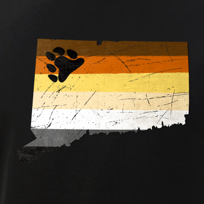 Connecticut Silhouette Bear Pride Flag