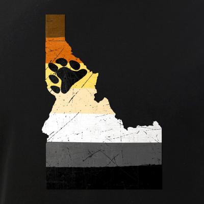 Idaho Silhouette Bear Pride Flag