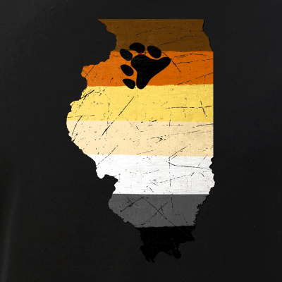 Illinois Silhouette Bear Pride Flag