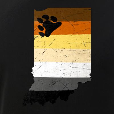 Indiana Silhouette Bear Pride Flag