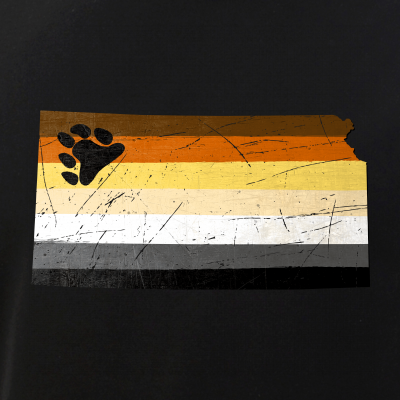 Kansas Silhouette Bear Pride Flag