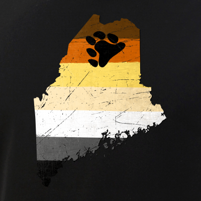 Maine Silhouette Bear Pride Flag