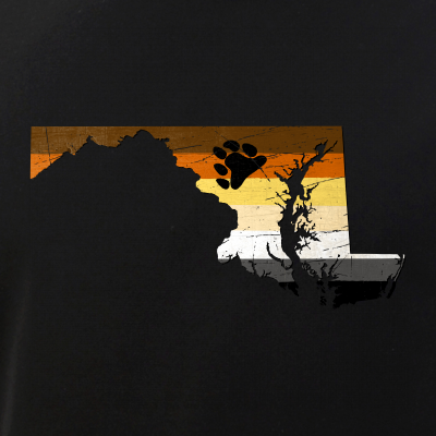 Maryland Silhouette Bear Pride Flag