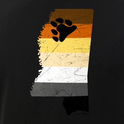 Mississippi Silhouette Bear Pride Flag