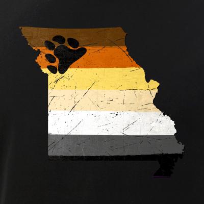 Missouri Silhouette Bear Pride Flag