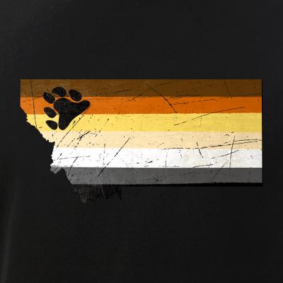 Montana Silhouette Bear Pride Flag