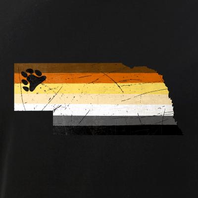Nebraska Silhouette Bear Pride Flag