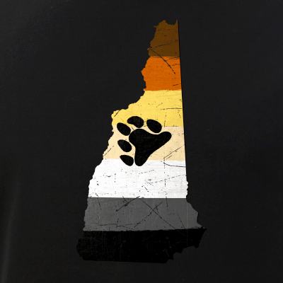 New Hampshire Silhouette Bear Pride Flag