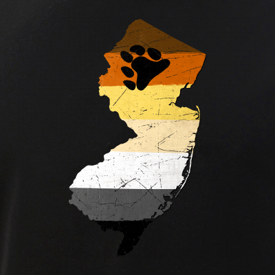 New Jersey Silhouette Bear Pride Flag