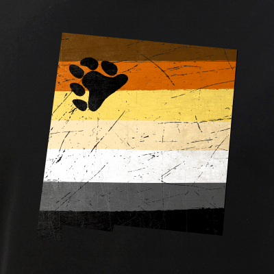 New Mexico Silhouette Bear Pride Flag