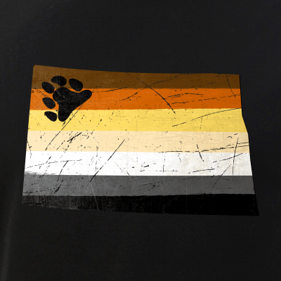 North Dakota Silhouette Bear Pride Flag