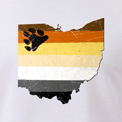 Ohio Silhouette Bear Pride Flag