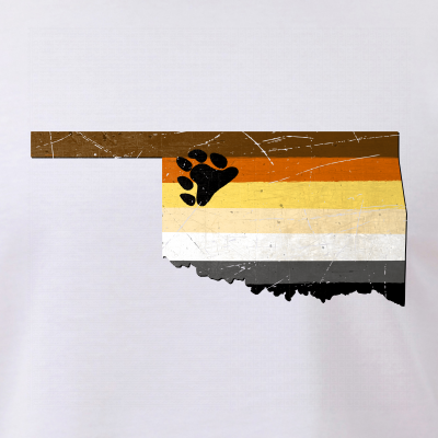 Oklahoma Silhouette Bear Pride Flag