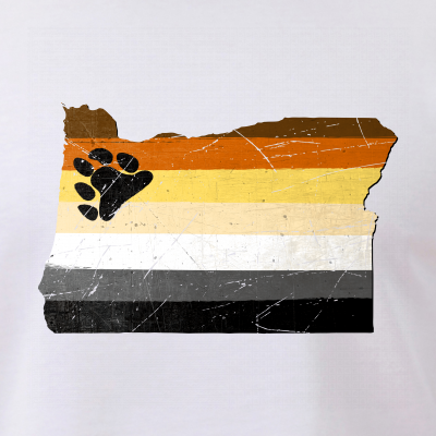 Oregon Silhouette Bear Pride Flag