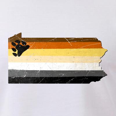 Pennsylvania Silhouette Bear Pride Flag
