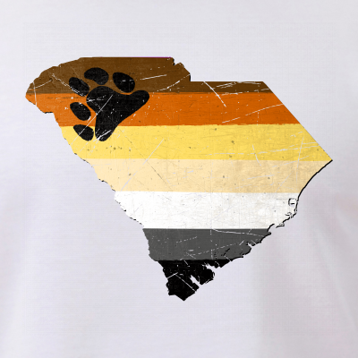 South Carolina Silhouette Bear Pride Flag