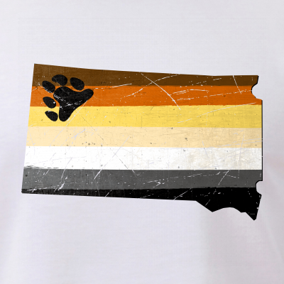 South Dakota Silhouette Bear Pride Flag