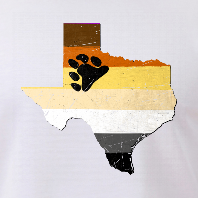 Texas Silhouette Bear Pride Flag