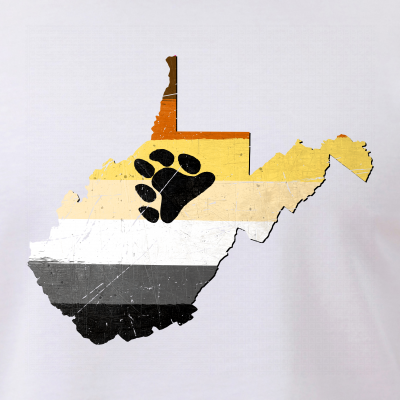 West Virginia Silhouette Bear Pride Flag