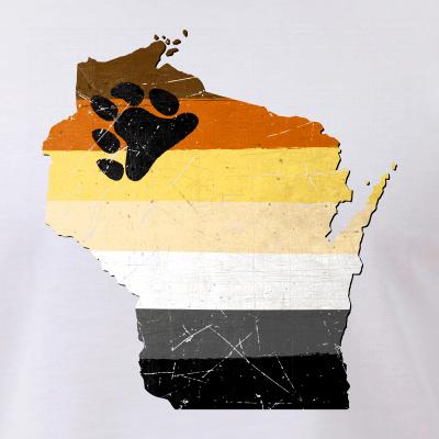 Wisconsin Silhouette Bear Pride Flag