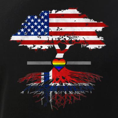 American Grown - Finnish Roots - Gay Heart LGBT Pride