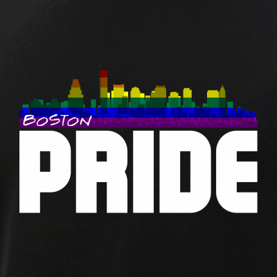 Boston Skyline Rainbow LGBT Pride