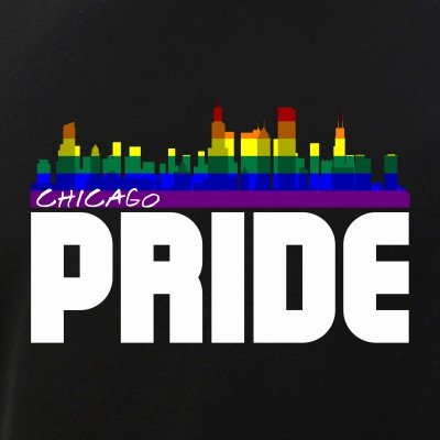 Chicago Skyline Rainbow LGBTQ Pride