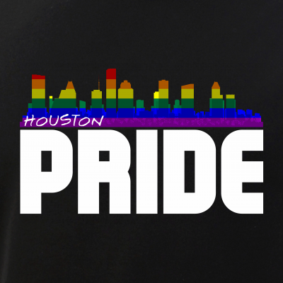 Houston Skyline Rainbow LGBT Pride