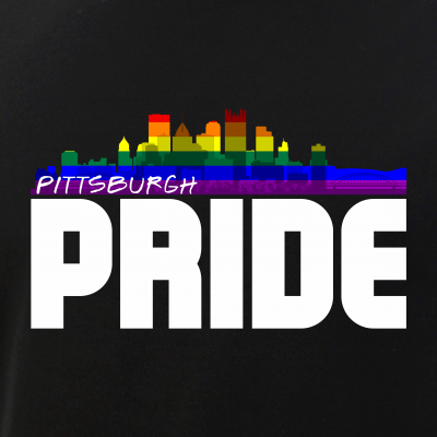 Pittsburgh Skyline Rainbow LGBT Pride