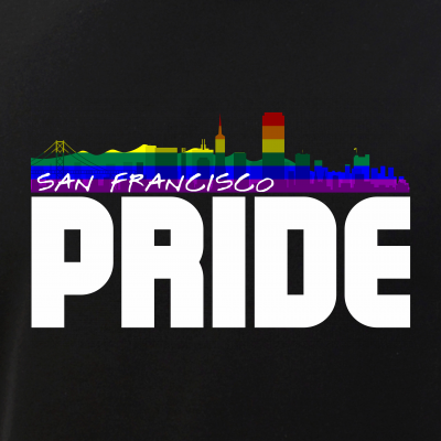 San Francisco Skyline Rainbow LGBT Pride