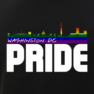 Washington DC Skyline Rainbow LGBT Pride