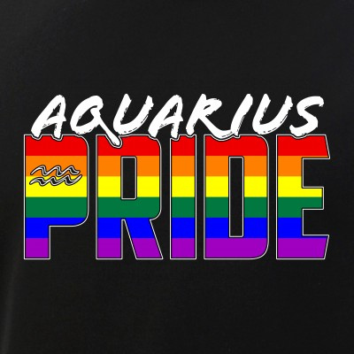 Aquarius LGBT Gay Pride Flag Zodiac Sign