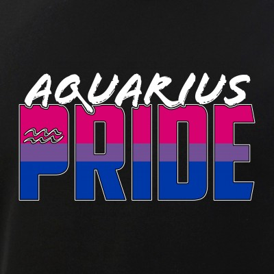 Aquarius Bisexual Pride Flag Zodiac Sign