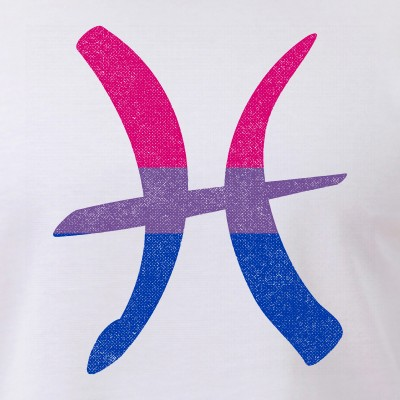 Bisexual Pride Flag Pisces Zodiac Sign