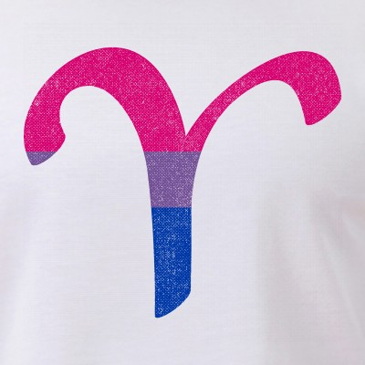 Bisexual Pride Flag Aries Zodiac Sign