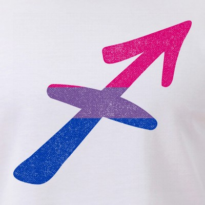 Bisexual Pride Flag Sagittarius Zodiac Sign