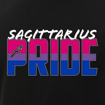 Sagittarius Bisexual Pride Flag Zodiac Sign