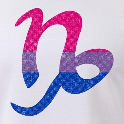 Bisexual Pride Flag Capricorn Zodiac Sign