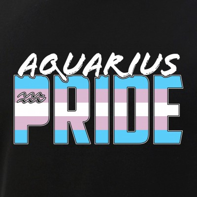 Aquarius Transgender Pride Flag Zodiac Sign