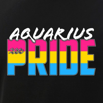 Aquarius Pansexual Pride Flag Zodiac Sign
