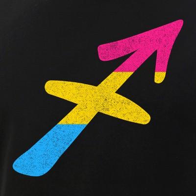Pansexual Sagittarius Pride Flag Zodiac Sign